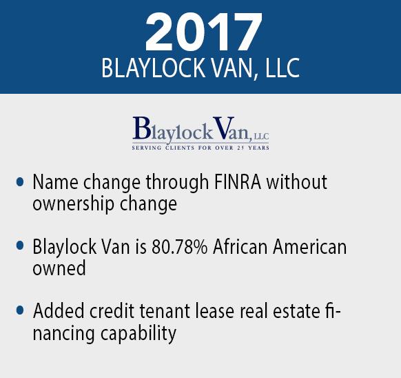 Blaylock Van, LLC - 2017